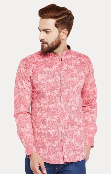 HANCOCK | Coral Floral Casual Shirt