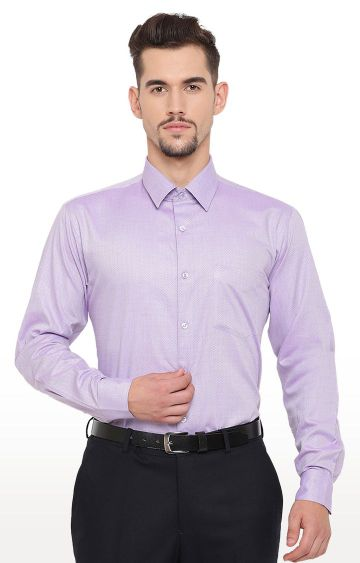 HANCOCK | Purple Solid Formal Shirt