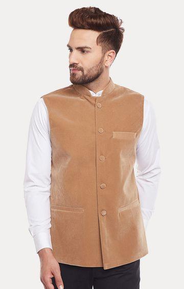 HANCOCK | Beige Solid Ethnic Jacket