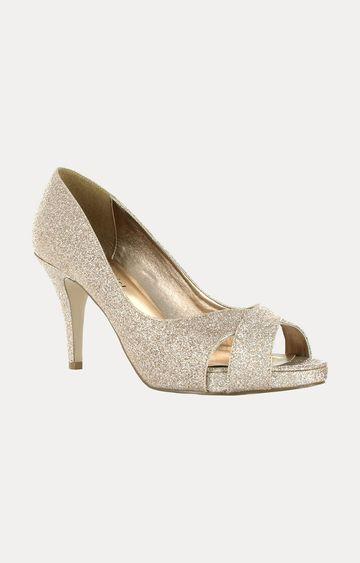 STEVE MADDEN | Gold Kitten Heels