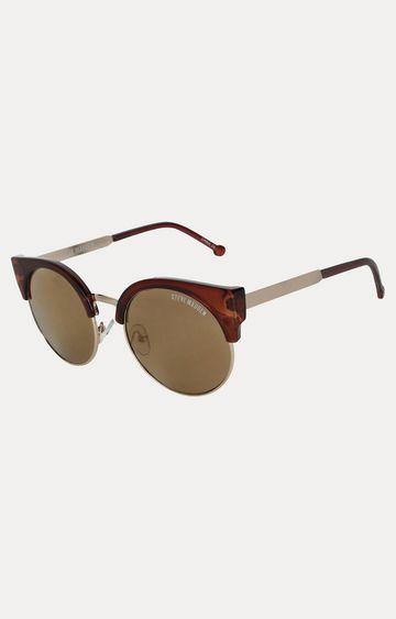 STEVE MADDEN | Red Round Sunglasses
