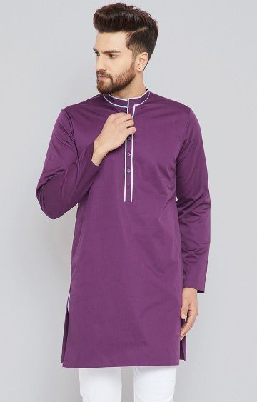 SEE DESIGNS | Purple Solid Kurta