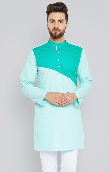 SEE DESIGNS | Turquoise Colourblock Kurta