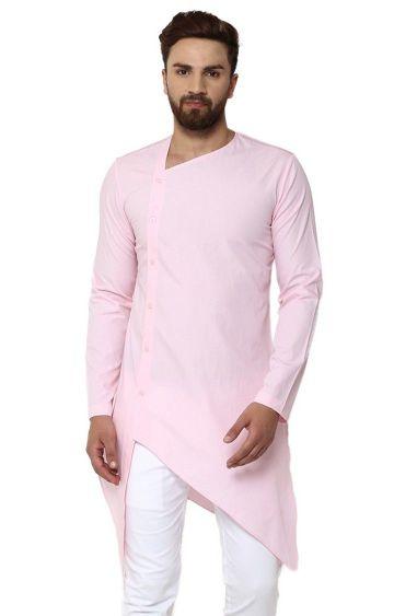 SEE DESIGNS | Pink Solid Kurta