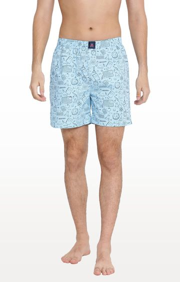 Crimsoune Club | Sky Blue Printed Boxers