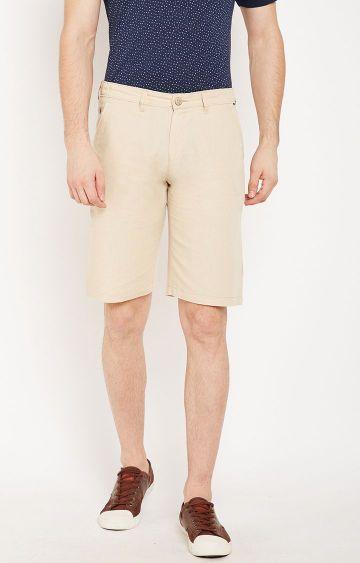 Crimsoune Club   Beige Solid Shorts