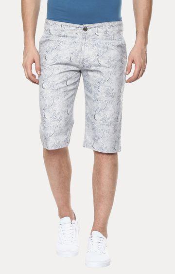 Crimsoune Club | Grey Printed Shorts