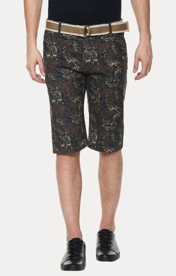Crimsoune Club | Brown Floral Shorts