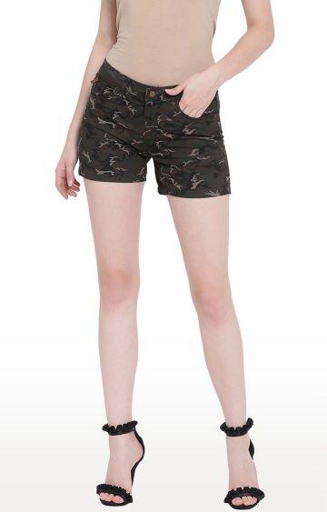 Crimsoune Club   Olive Camouflage Shorts