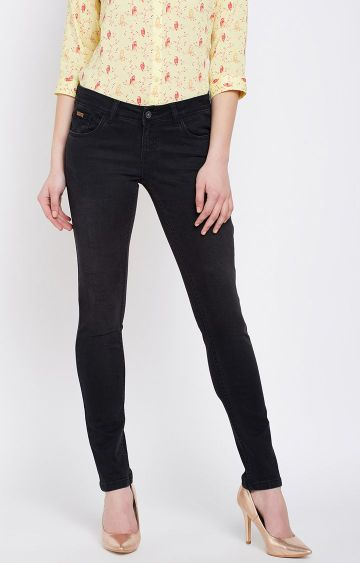 Crimsoune Club | Black Solid Straight Jeans