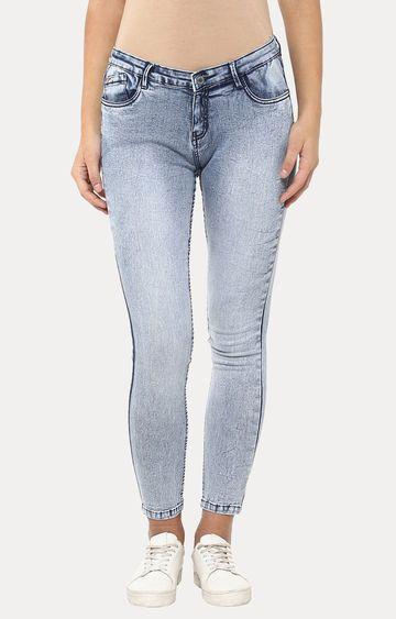 Crimsoune Club | Blue Cropped Jeans