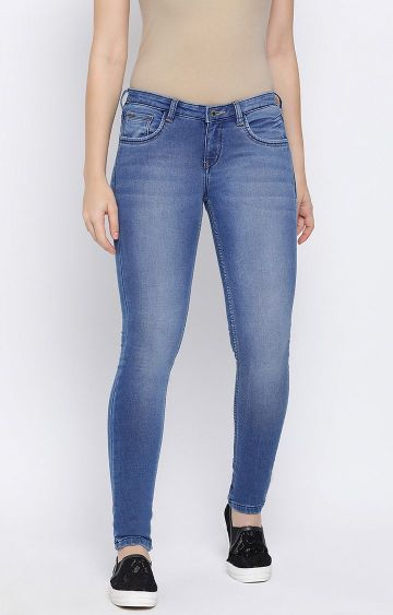 Crimsoune Club   Blue Solid Tapered Jeans