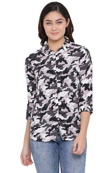 Crimsoune Club   Black Camouflage Casual Shirt