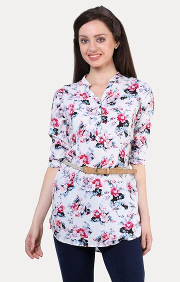 Crimsoune Club | Multicoloured Floral Tunic