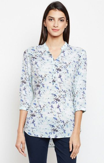Crimsoune Club | Blue Printed Tunic