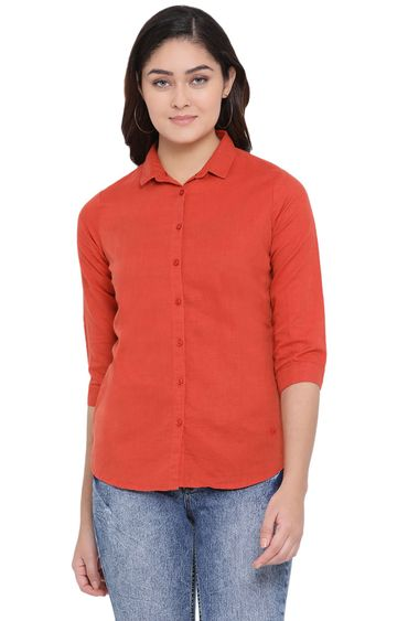 Crimsoune Club | Red Solid Casual Shirt
