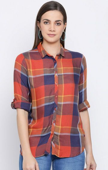 Crimsoune Club | Multicoloured Checked Casual Shirt