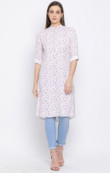 Crimsoune Club | White Printed Tunic