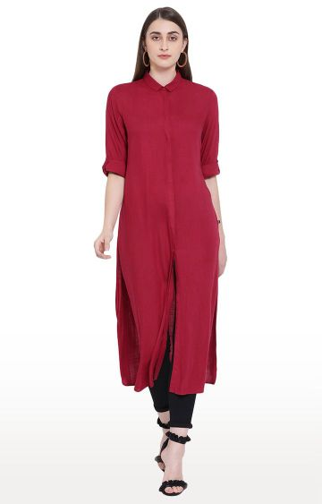 Crimsoune Club | Red Solid Tunic