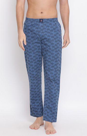 Crimsoune Club | Blue Printed Trackpants