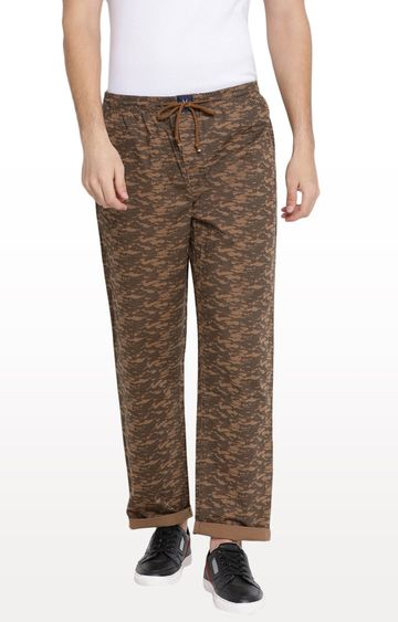 Crimsoune Club | Brown Printed Pyjamas