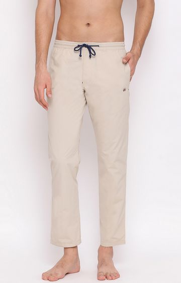 Crimsoune Club | Cream Solid Trackpants