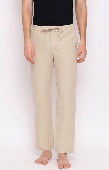Crimsoune Club | Beige Solid Trackpants