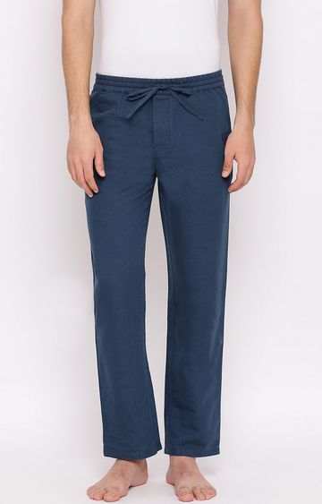 Crimsoune Club | Blue Solid Trackpants