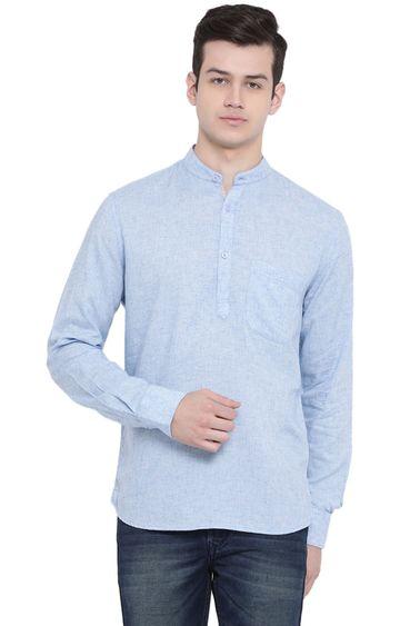 Crimsoune Club   Blue Melange Casual Shirt