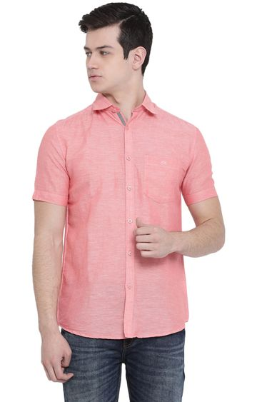 Crimsoune Club | Pink Melange Casual Shirt
