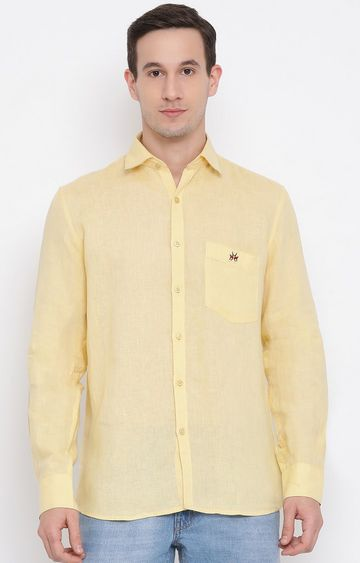 Crimsoune Club | Yellow Solid Casual Shirt