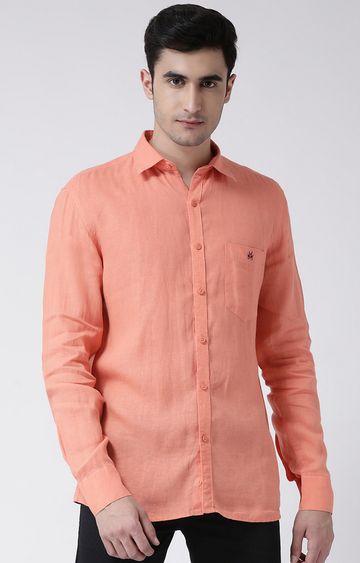 Crimsoune Club | Orange Solid Casual Shirt