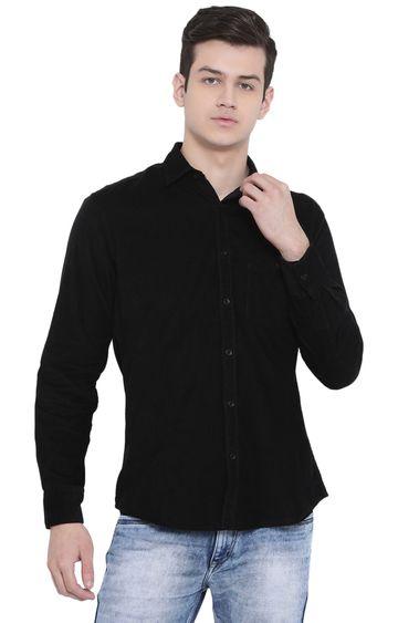 Crimsoune Club   Black Solid Casual Shirt