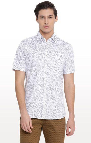 Crimsoune Club | White Printed Casual Shirt