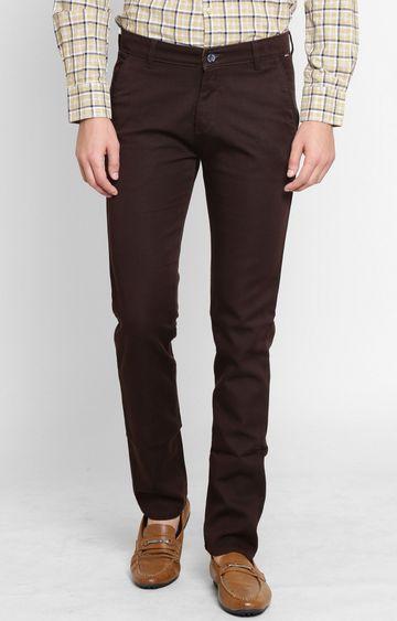 Crimsoune Club   Brown Straight Trousers