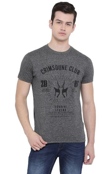 Crimsoune Club | Grey Printed T-Shirt