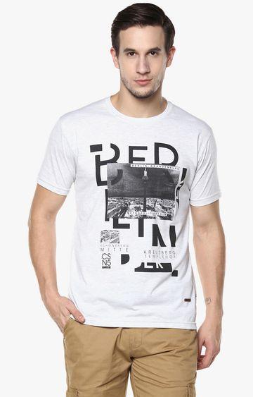 Crimsoune Club   White Printed T-Shirt