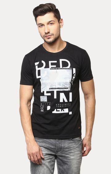Crimsoune Club   Black Printed T-Shirt