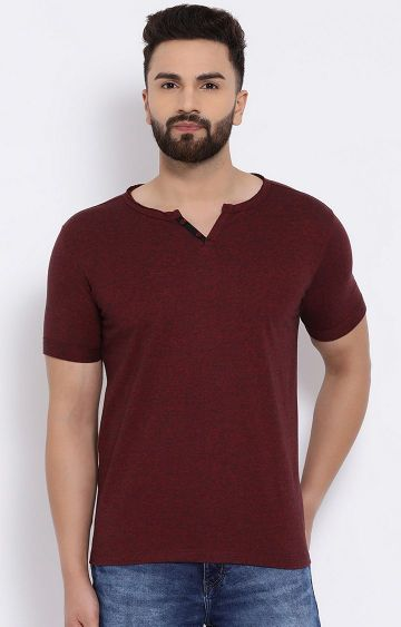 Crimsoune Club | Maroon Melange T-Shirt