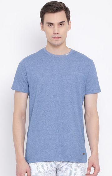 Crimsoune Club | Blue Melange T-Shirt