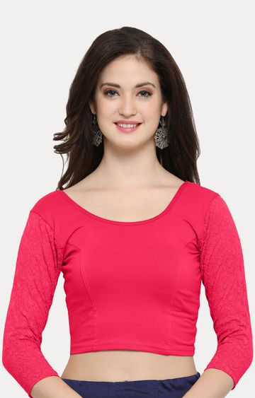 Janasya | Dark Pink Solid Blouse