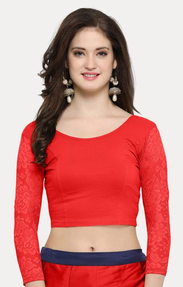Janasya | Red Solid Blouse