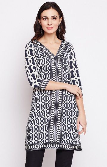 Fabnest | Navy Printed Tunic