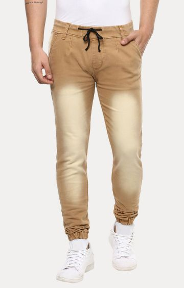 Urbano Fashion | Khaki Solid Joggers