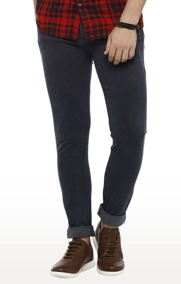 Urbano Fashion | Grey Solid Tapered Jeans