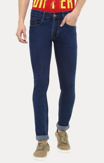 Urbano Fashion | Blue Solid Straight Jeans