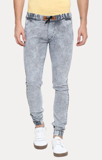 Urbano Fashion | Light Grey Solid Joggers