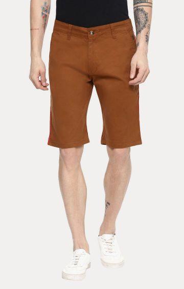 Urbano Fashion   Brown Solid Shorts
