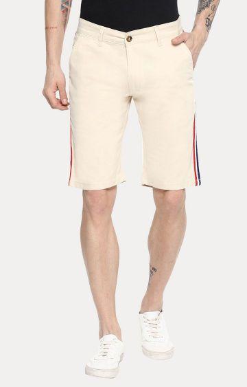 Urbano Fashion | Cream Solid Shorts