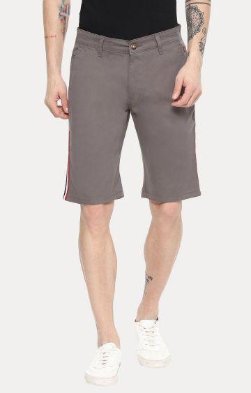 Urbano Fashion   Grey Solid Shorts